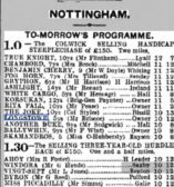A horse called Longstowe at Nottingham Races, ridden by Mr Briscoe