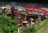 Dean Brook culvert head wall repairs May 2017  in Old North Road