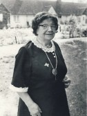 Sarah Butler, author of a booklet about the history of Meldreth.  Sarah died in 1982.
