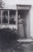 Miss Thurley standing outside her cottage in North End, Meldreth (photo courtesy of Peggy Wedd)