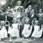 Cast of Cinderella Play at Congregational Church, High Street, Meldreth.