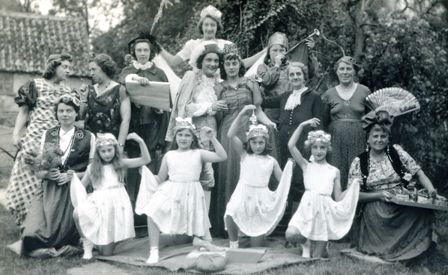 Cast of Cinderella Play at Congregational Church, High Street, Meldreth.