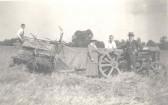 Raymond Course on the tractor at Northfield Farm, Malton Lane, Meldreth