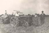 Frank Course on the tractor at Northfield Farm, Malton Lane, Meldreth