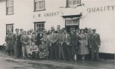 Group of Regulars outside The Railway Tavern Public House, Station Road, Meldreth on Coronation Day 2 June 1953.