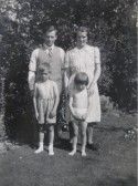 Bert & Mildred Winter with their children Ken and Kathleen.  Bert was station master at Meldreth Railway Station.