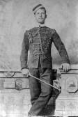 Alfred Abrey from Meldreth, pictured in his Cambridgeshire Militia Uniform