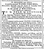 An advertisement from the Cambridge Chronicle for the sale by auction of Flambards or Quaker's Mill, which was located near Meldreth Railway Station.
