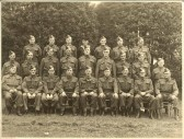 Meldreth Home Guard - No19 Platoon 4th Battalion C Company Cambridgeshire Regiment.  The photograph was taken in the Church meadow.