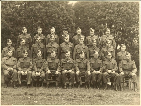 Meldreth Home Guard - No19 Platoon 4th Battalion C Company Cambridgeshire Regiment.  The photograph was taken in the Church meadow.