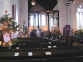 Christmas Tree Festival in the Holy Trinity Church, North End, Meldreth