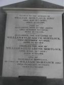Plaque in the Holy Trinity Church, North End, Meldreth dedicated to William Mortlock's family of Meldreth