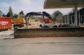 Renault Garage being demolished in High Street, Meldreth prior to housing development.