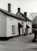 The British Queen Public House, High Street, Meldreth. Jarrolds' postcard.