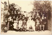 Wedding of Albert Pepper and Daisy Moxon pictured in the garden of White Croft, Whitecroft Road, Meldreth.