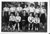 Meldreth Girl Guide Company with their Captain Mrs. Carol Mead.