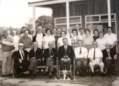 Members of Meldreth Bowls Club, North End, Meldreth.
