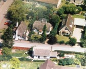 Aerial view of Bramble Cottage, Whitecroft Road, Meldreth.