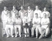 Members of the Atlas Stone Company Cricket Club, Whitecroft Road, Meldreth.