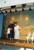 Doris 'Gilly' Gilham and Wendy Braid in fundraising concert for Meldreth Village Hall, High Street, Meldreth in1992.