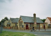 Mepal Village Hall with Mepal Chapel behind