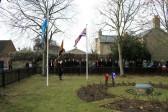 General view of the scene at RAF Memorial Garden , Laurel Close Mepal