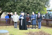 Revd Peter Parker taking the  Remembrance Service at RAF Memorial Gardens