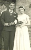 Ernie and Beryl Barlow's Wedding day, Mepal Chapel