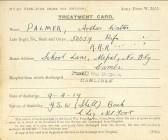 World War I Mepal resident's Treatment Card