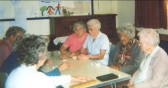 Good Companions playing dominoes in Mepal Village Hall