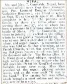Leonard Constable's obituary, 1917. (Mepal)