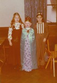 Orwell Methodist Church Festival of Queens 1976 (Alison Pritchard (nee Rumbold) is on the left and Donna Titchmarsh is in he middle).