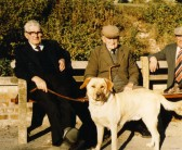 Len Miller (with his dog Sandy) and Harry Gifford both Orwell residents.