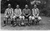 Percy Robinson, Len Miller, Cliff Bullen and Will Wilkins all Members of the Orwell Football Team. League Champions and Foster Cup Winners.