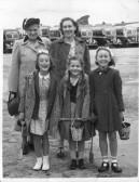 Orwell Methodist Church Sunday School Outing. E Peters, Peggy Miller, Pauline Northrop (Howlett), Susan Knebel (Miller) Shirley Lambert (Robinson)