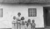Orwell School May Queen, Eileen Neaves with attendants.
