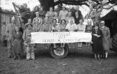 Orwell Womens Institute Float, towed by Alf Arnold, from the 1953 Coronation Celebrations