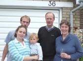 Three generations of the Reid family, John, Katie, Alex, Sarah, Thomas (0ne year old) residents of Orwell.