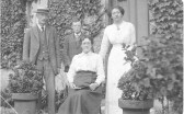 Mr & Mrs Arthur Merry and their children Freda and Laurence.