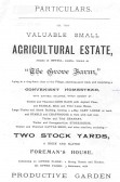 .Page 2 of the Particulars of Sale of Grove Farm Orwell in 1900.