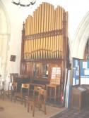 19th century organ in St. Andrews Church. Originally installed in Baldock Methodist Church. Rebuilt by David Miller of Orwell with extra stops added.