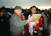 Presentation to Orwell Football Club, winners of Orwell 5-a-side match, Jan. 2nd 2000