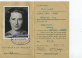 Margaret Fletcher of Pymoor's young persons identity card.