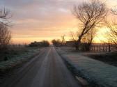 Sunrise seen from Pymoor Lane, Pymoor, 2008