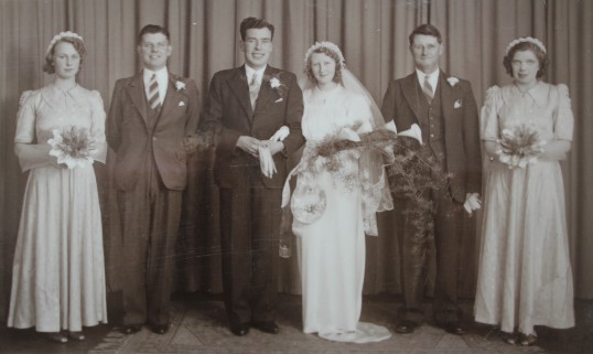 The Wedding of Fred Chester & Lily Bell of Pymoor,1940.