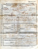 Army Discharge Certificate for Joseph Brown of Pymoor.