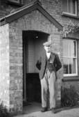 Joseph Brown outside Hill Farm, Pymoor Lane, Pymoor, circa 1942.