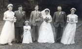 The Wedding of Les Murffit & Ada Benton of Pymoor, circa 1952