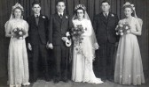 The Wedding of Daphne Hemmant & Eddy Pledger of Pymoor, circa 1946