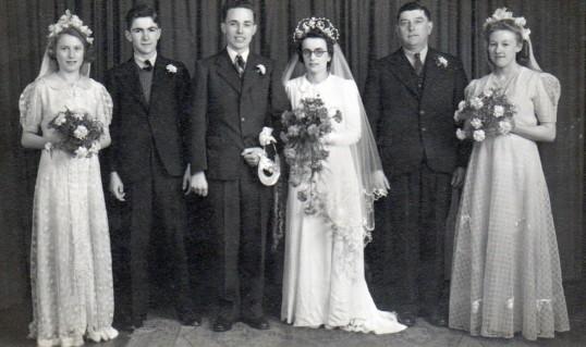 The Wedding of Daphne Hemmant & Eddy Pledger of Pymoor, circa 1946